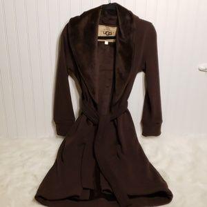 Luxurious UGG Fleece Lined Brown Robe